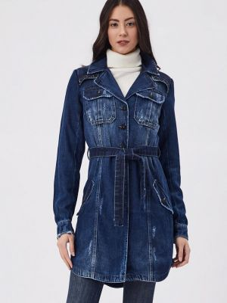 Синяя джинсовая куртка D'she