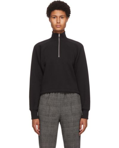 Czarny bawełna bawełna sweter z kołnierzem Rag & Bone
