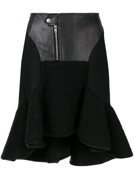 Черная нейлоновая юбка с оборками Junya Watanabe Comme Des Garçons Pre-owned