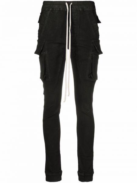Облегающие зауженные джинсы - черные Rick Owens Drkshdw