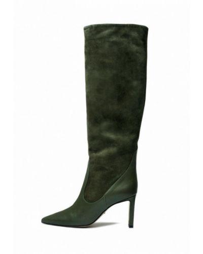 Зеленые кожаные сапоги Modus Vivendi