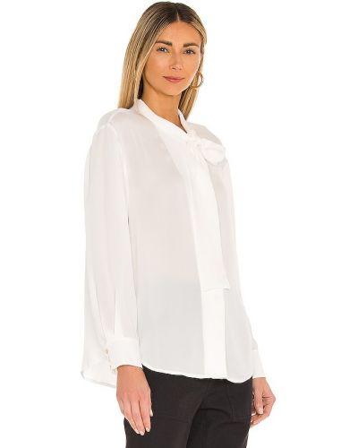 Bluzka z długimi rękawami z jedwabiu zapinane na guziki Rebecca Taylor