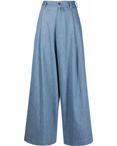 Хлопковые синие брюки с карманами SociÉtÉ Anonyme