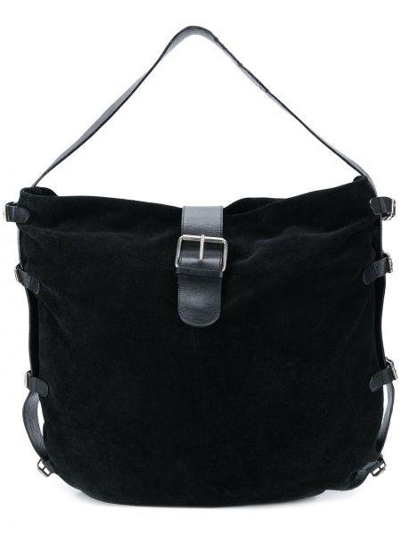 Замшевая с ремешком черная сумка на плечо винтажная Dolce & Gabbana Pre-owned
