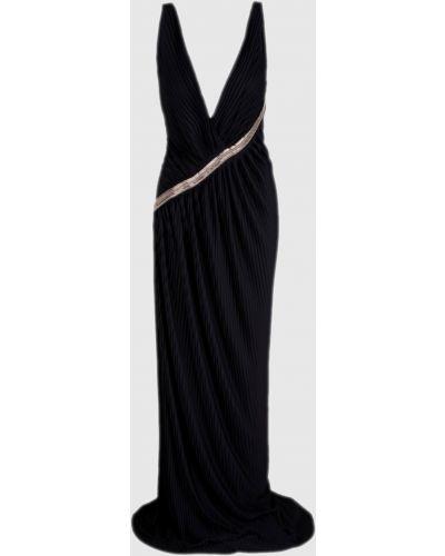 Черное платье макси Roberto Cavalli