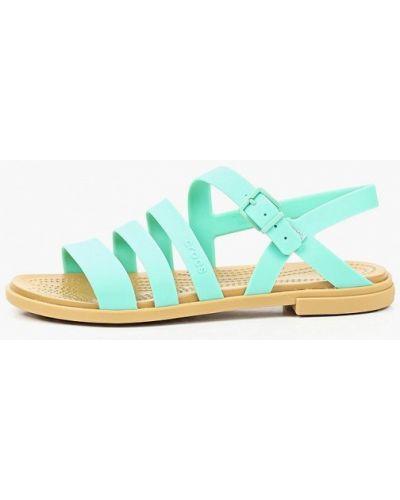 Зеленые спортивные сандалии Crocs