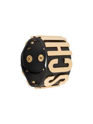 Czarna złota bransoletka Moschino