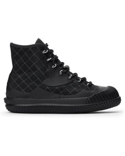Черные высокие кроссовки на каблуке Converse