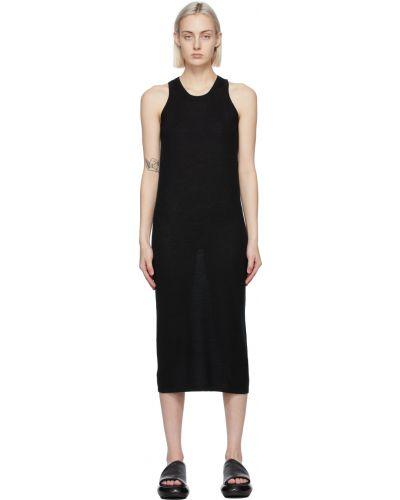 Z kaszmiru czarna sukienka bez rękawów Frenckenberger