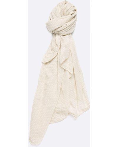 Бежевый шарф с узором Answear