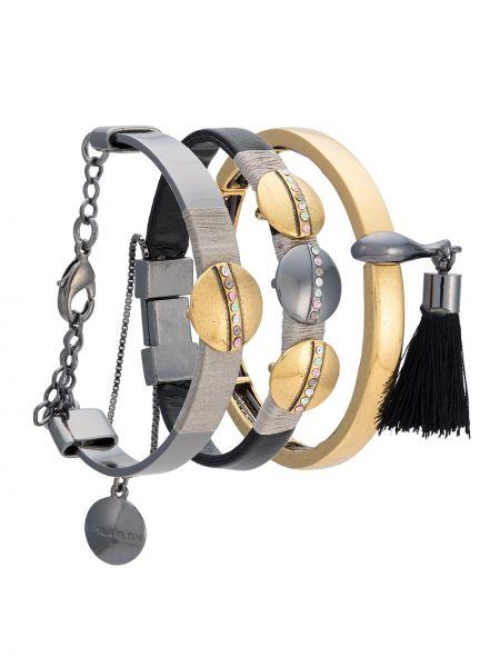 Золотистый желтый золотой браслет металлический Camila Klein