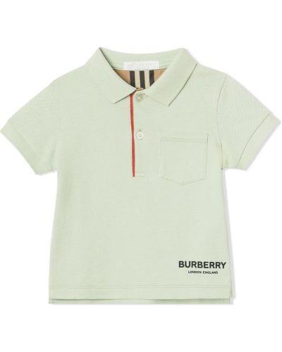 Рубашка зеленый Burberry Kids