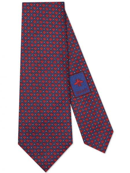 Krawat niebieski Gucci