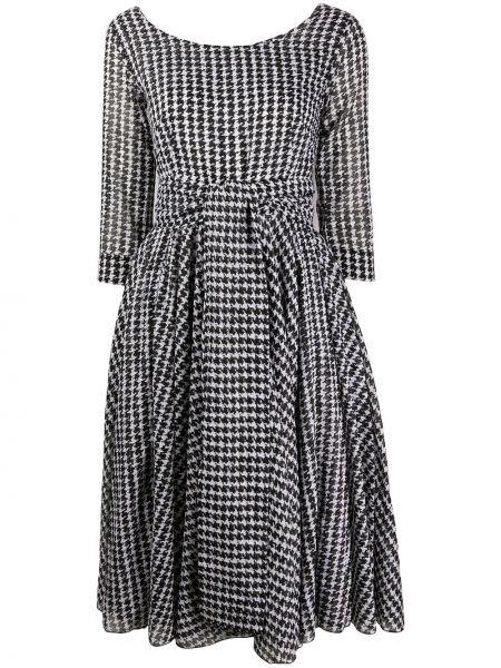Платье миди в клетку приталенное Samantha Sung