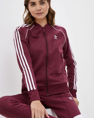Бордовая толстовка осенняя Adidas Originals
