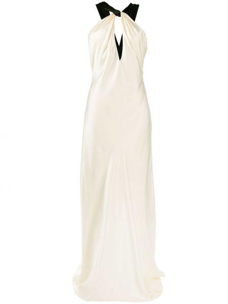 Белое шелковое платье с вырезом узкого кроя Redemption