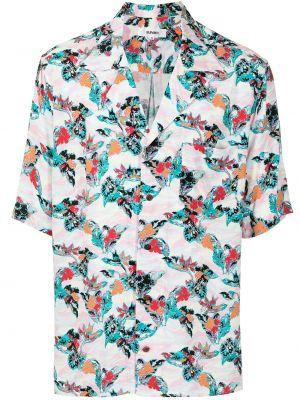 Koszula krótki rękaw z printem w kwiaty Sulvam
