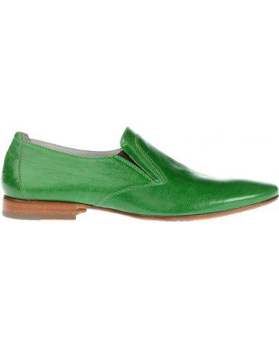 Зеленые лоферы Giampiero Nicola
