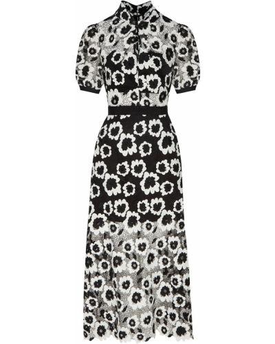 Платье миди с открытой спиной с цветочным принтом Self-portrait