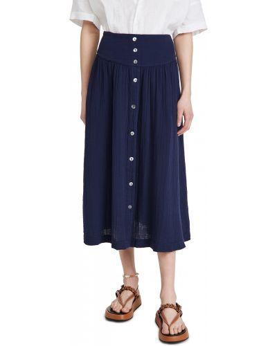 Хлопковая с завышенной талией юбка на резинке Xírena
