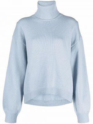 Niebieski z kaszmiru sweter Tibi