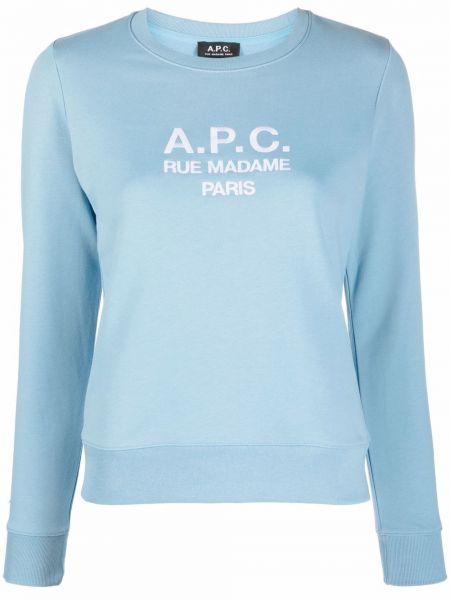 Синие брюки длинные A.p.c.