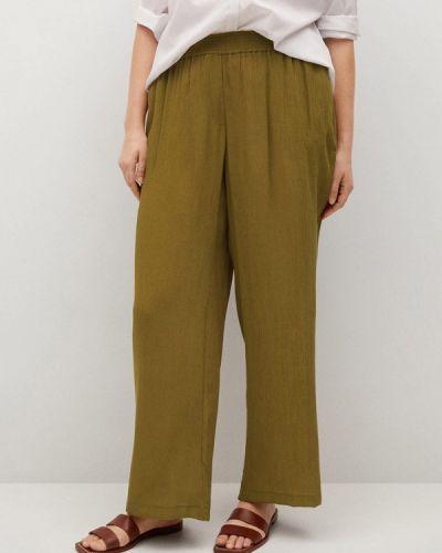 Зеленые широкие брюки Violeta By Mango
