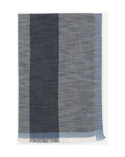 Niebieska szal bawełniana oversize Marc O Polo