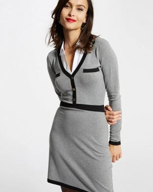 Платье серое прямое Morgan