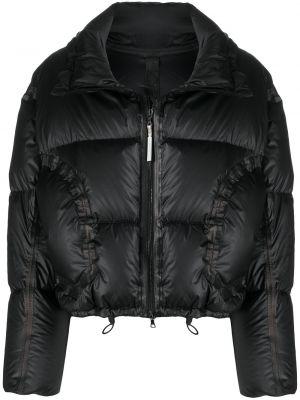 Черная кожаная длинная куртка с воротником Isaac Sellam Experience