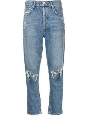 Синие прямые джинсы на молнии Citizens Of Humanity