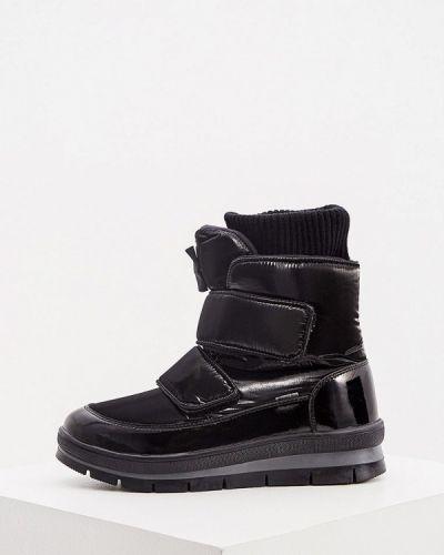 Лаковые кожаные черные дутики Jog Dog