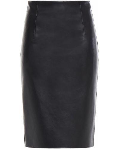 Черная кожаная юбка Piazza Sempione