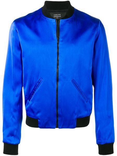 Prążkowana niebieska długa kurtka z długimi rękawami Garçons Infideles