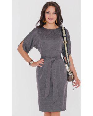 Платье с поясом платье-сарафан из вискозы Dstrend
