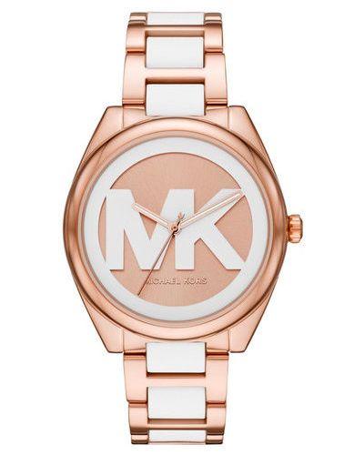 Żółty złoty zegarek Michael Kors