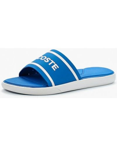 Синие сланцы Lacoste