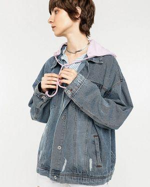 Серая джинсовая куртка свободного кроя Befree