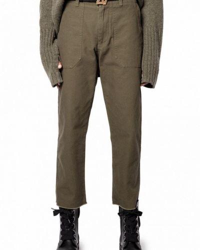 Классические брюки - зеленые Zadig & Voltaire