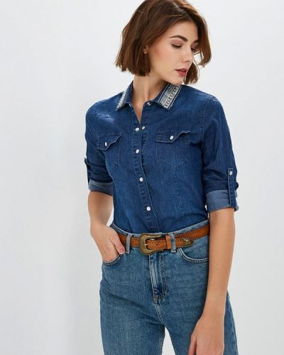 Синяя джинсовая рубашка с запахом Softy