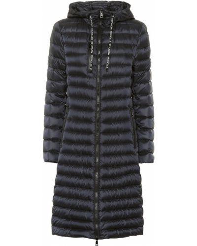 Длинное пальто стеганое био пух Moncler