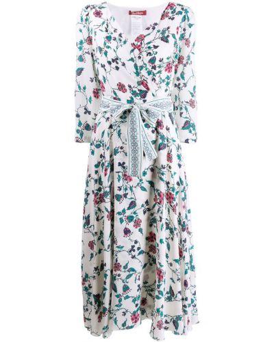 Платье миди с запахом с цветочным принтом Max Mara Studio