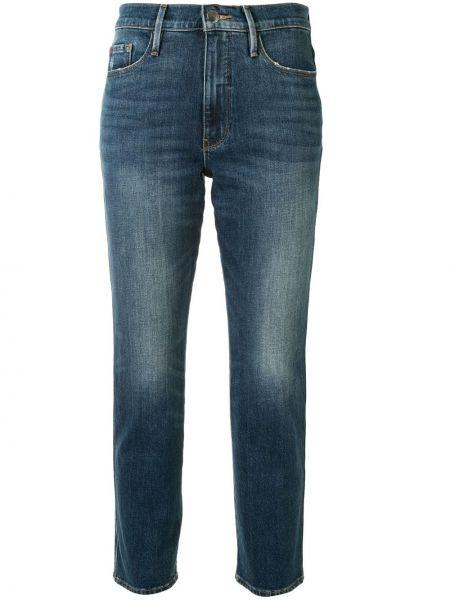 Укороченные джинсы - синие Frame