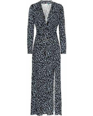 Платье миди деловое леопардовое Rixo