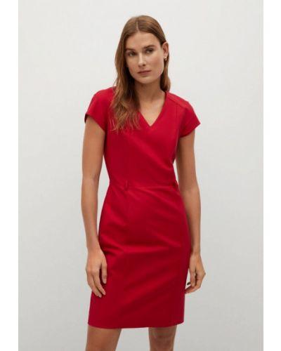 Красное платье-футляр Mango
