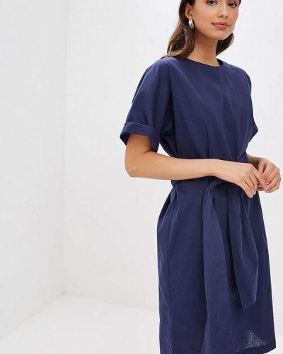 Платье прямое синее Mirrorstore