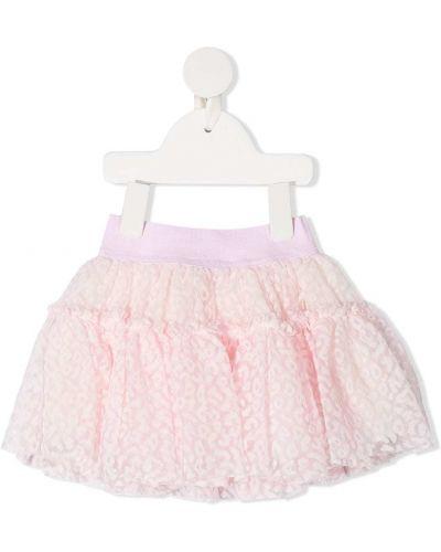 Розовая пышная юбка из фатина Monnalisa