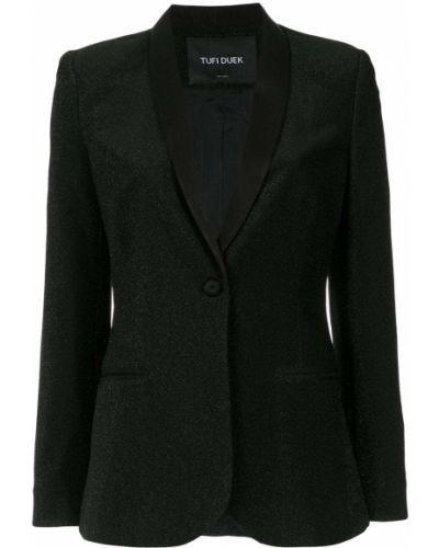 Черный классический пиджак с карманами Tufi Duek