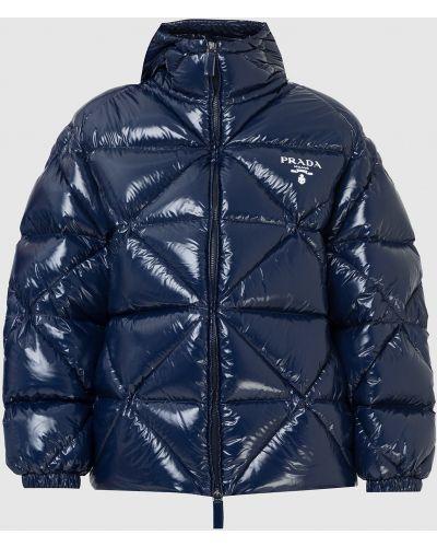 Стеганая куртка - синяя Prada