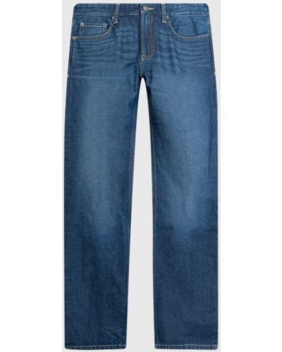 Синие прямые джинсы классические с карманами Ostin